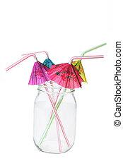 Drinking Straws in Bottle