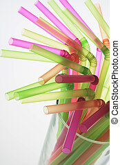 Drinking Straws in Glass