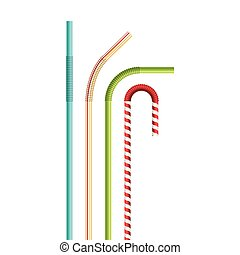 Drinking straws vector illustration isolated on white background