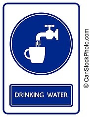 drinking water sign and symbol vector