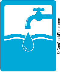 drinking water symbol with faucet
