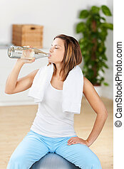 Drinking woman