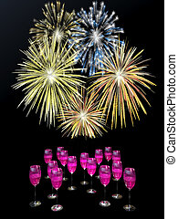 drinks., זיקוקין, שמפנייה, מעל