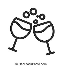 Drinks - Drink, party, bottle icon vector image. Can also be...