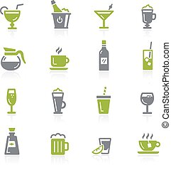Drinks Icons. Natura