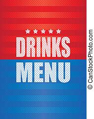drinks menu background