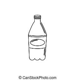 drinks plastic bottle soda refreshment line style icon
