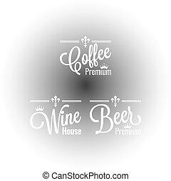 drinks set labels design background
