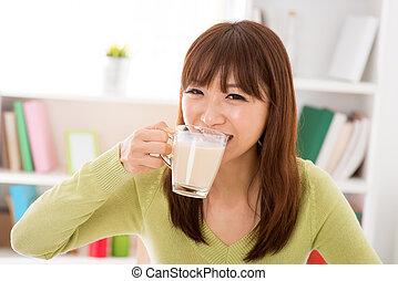 drinkt, soy melk