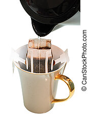 Drip Coffee Isoleated white background