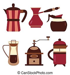 Drip Coffee Makers and Devices Icons