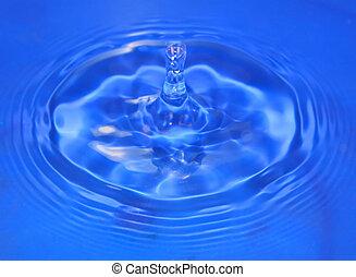 Drip Drop - A drip of cool blue water rebounds upwards.