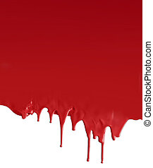 Dripping dark red on white