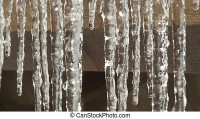 Dripping Icicles close up