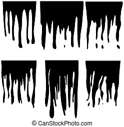 Dripping Paint Silhouette
