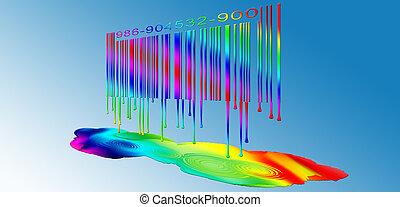 Dripping Rainbow Barcode