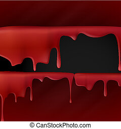 Dripping Red Blood.