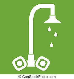 Dripping tap icon green
