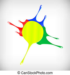 Drips of color paint vector illustration
