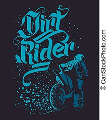Drirt rider Motocross Freestyle design for apparel
