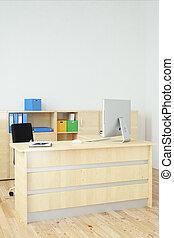 dritto, moderno, ufficio