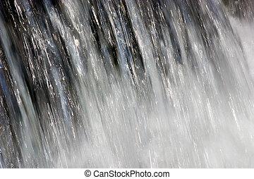 driva, av, vatten