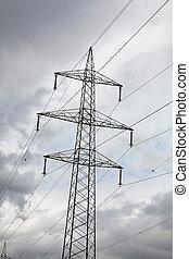 driva, elektricitet, energi, stänger, alternativ, turbin, linda