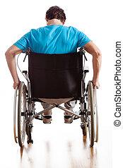 drivande, a, rullstol