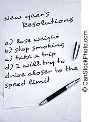 Drive closer to the speed limit new year resolution