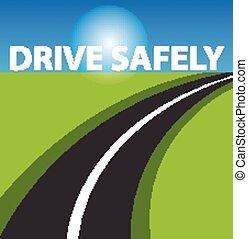 Drive safe background