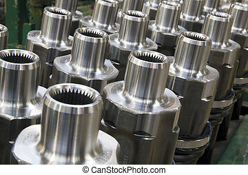 Drive shafts in its factory
