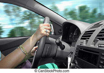 Drive - Driving a car with speed