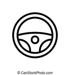 drive thin line icon