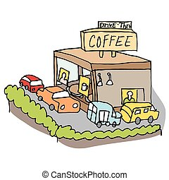 Drive-thru coffee shop