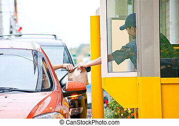 fast food restaurant. - Drive thru fast food restaurant.