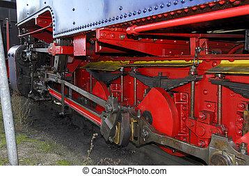 DRIVE TRAIN OF STEAM ENGINE