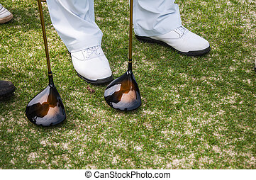 Driver and golf shoes