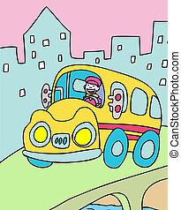 driver, autobus
