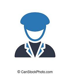 driver  glyph color icon