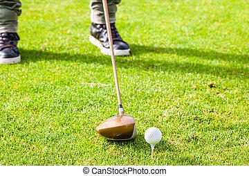 Driver golf hit