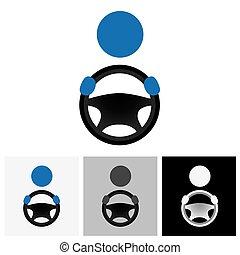 driver icon, driver icon vector, driver icon eps 10, driver icon logo