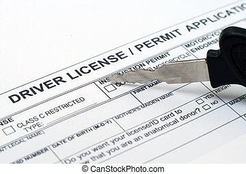 Driver license application
