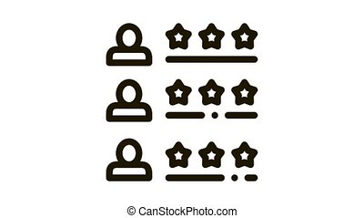 Driver Rating Sheet Online Taxi animated black icon on white background