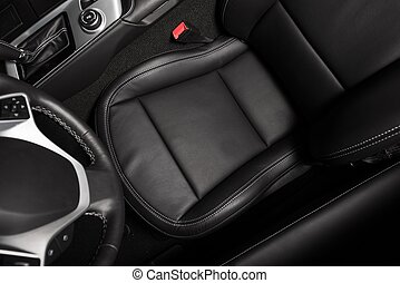 Driver Seat From Above - Driver Seat Photo From Above. Black...
