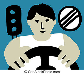 Driver. - Unrecognizable person is looking like a driver....