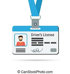 Driver's license icon isolated