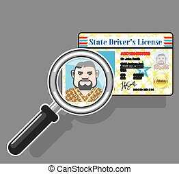 Driver's License under Magnifying