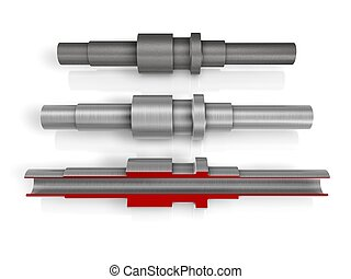 driveshaft on white background