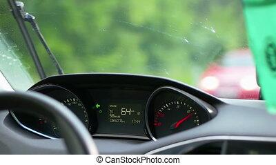 Driving a Car Through the Countryside