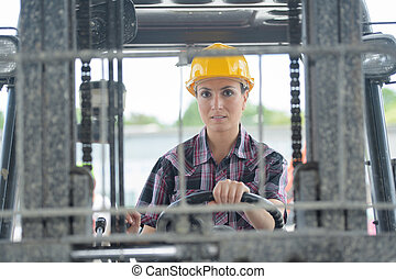 driving a forklift